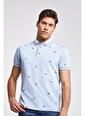 D'S Damat Regular Fit Baskılı T-Shirt Mavi